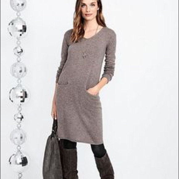 ac819ebad2fe J. Jill Dresses | J Jill Silk Cotton Blend Sweater Dress Grey Sz S ...
